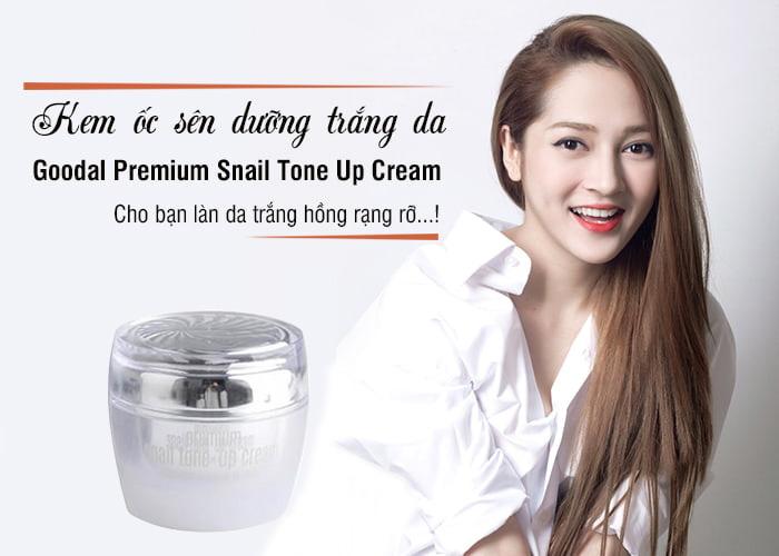 kem oc sen goodal premium snail tone up cream duong trang da han quoc 50g anh 1